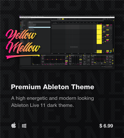Ableton Live 11 theme YellowMellow