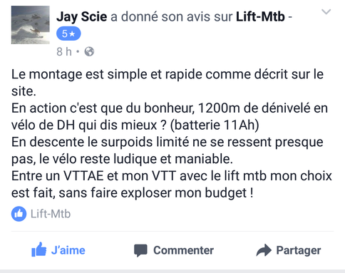 avis facebook lift-mtb