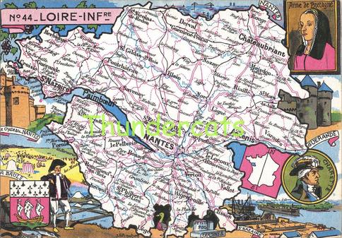 Recto d'une carte postale timbrée envoyée depuis la Loire-Atlantique
