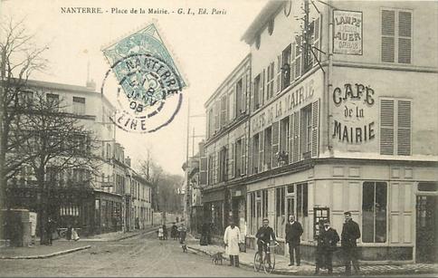Recto d'une carte postale timbrée au dos envoyée depuis Nanterre (Hauts-de-Seine)