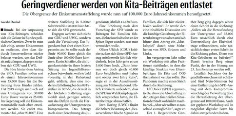 Mit freundlicher Genehmigung der Neuen Westfälischen (Artikel vom 12.03.2021)