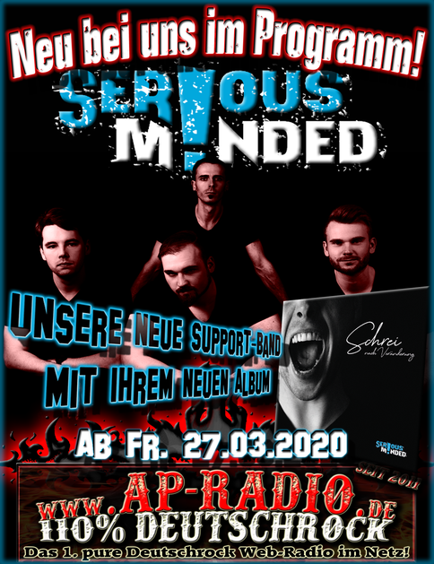 Serious Minded bei AP-Radio 110% Deutschrock