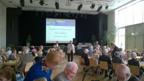 Begrüßung durch Fritz Brockhues und den 1. Vorsitzenden Helmuth Rüschhoff-Nadermann