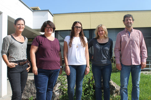 von links: Anja Riedlbeck, Daniela Nill, Julia Frech, Martina Wahl, Sven Kremer