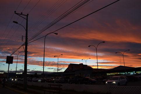 Atardecer en Punta Arenas