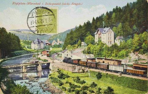 Ansichtskarte vom Floßplatz 1932