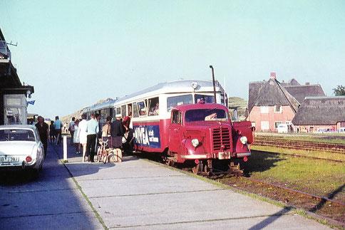 Der LT4 im Bahnhof List; Fotograf: Claus Tiedemann