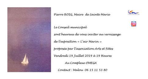 Bernard Legros artiste peintre à Perpignan sera présent à l'exposition Oméga à Ste Marie plage (66)