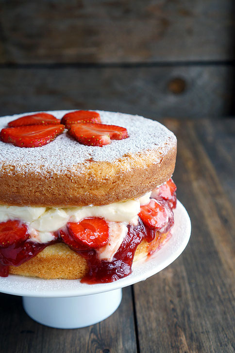 strawberry Vanilla sponge