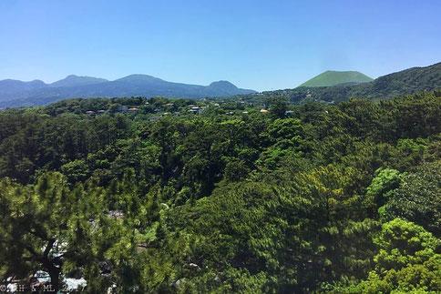 Blick vom Leuchtturm zum Mt. Omuro