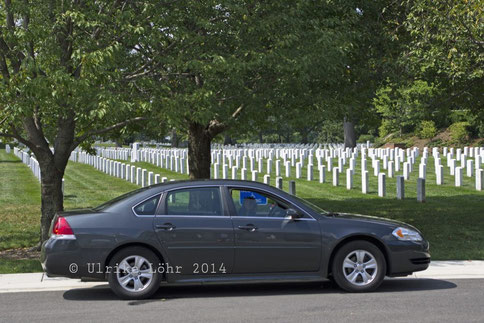 """unser"" Chevy Impala (auf dem Nationalfriedhof in Arlington)"