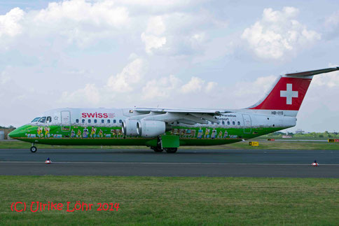 Swissair mit Sonderlackierung in DUS