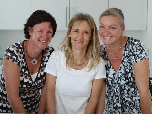 Christine Gaube, Dr. Barbara Jung, Fanny Schindler
