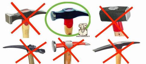 marteau pour fabriquer une malle ou coffre bombé