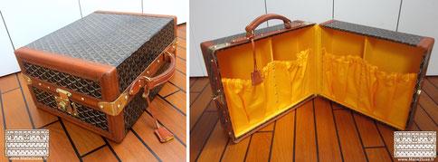 Goyard shoe case trunk