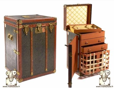 Goyard chest of drawers trunk 1910