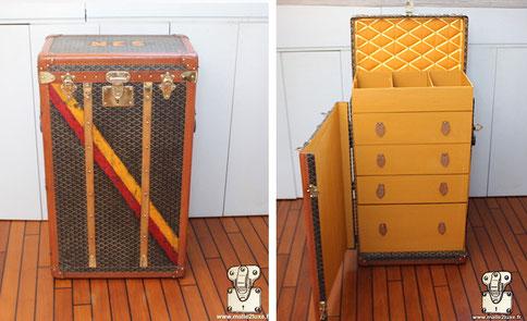 Goyard drawer trunk wardrobe 1920