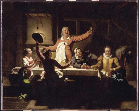 MENJAUD Alexandre, Henri IV chez le meunier Michau