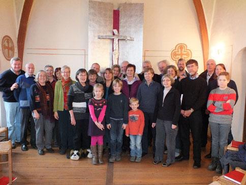 Der Chor mit Gästen  im November 2012 - in einem deutsche Kloster