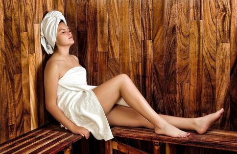 Urlaub und Aktivitäten in der Natur: Sauna im Hotel Reschnerhof in Reschen am Reschenpass - Vinschgau - Südtirol