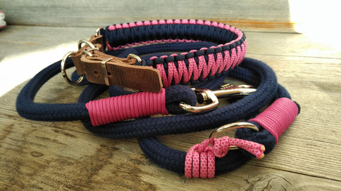Hundehalsband, Paracordhalsband, Cobra Knoten
