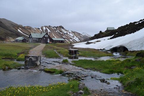 Landmannalaugar campsite June