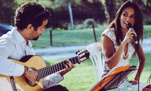 duo chanteuse et guitariste mariage sud de la france