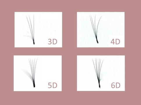 3D 6D Russian volume wimper extensions