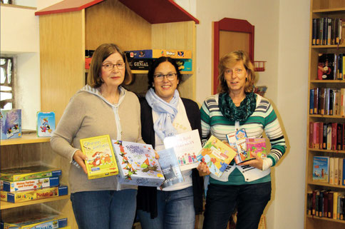 Büchereiteam St. Marien - vlnr: Edith Kozubek, Doris Pötter-Pilz, Annette Hauke