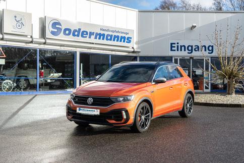 Behindertengerechter Volkswagen T-Roc Selbstfahrerumbau, MFD, Handgerät, Pedalsperre, Sodermanns