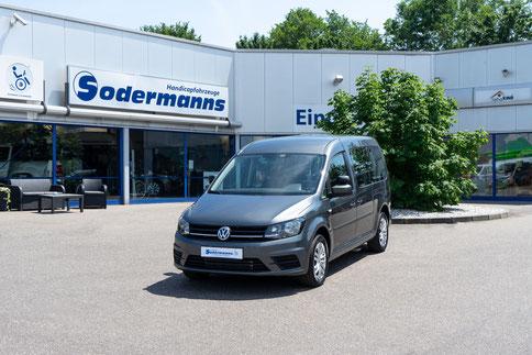 Volkswagen Caddy Selbstfahrerumbau, Space Drive, 4-Wege-Joystick, Sprachsteuerung, Transferkonsole, elektrische Rampe, Heckeinstieg, Sodermanns