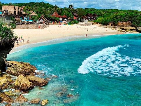 Prachtig eiland Nusa Lembongan voor de kust van Bali