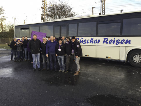 Im Vordergrund v.l.: Volker Kramer, Michael Schmunkamp, Norbert Büscher, Marcel Hüstege, Stefan Howiller, Harry Oehlmann