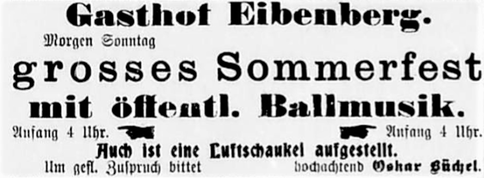 Werbung aus der Burkhardtsdorfer Zeitung 1912