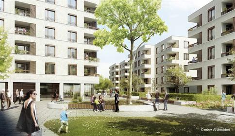 Visualisierung des Wohnungsneubauprojektes Freundenberger Weg der Charlottenburger Baugenossenschaft