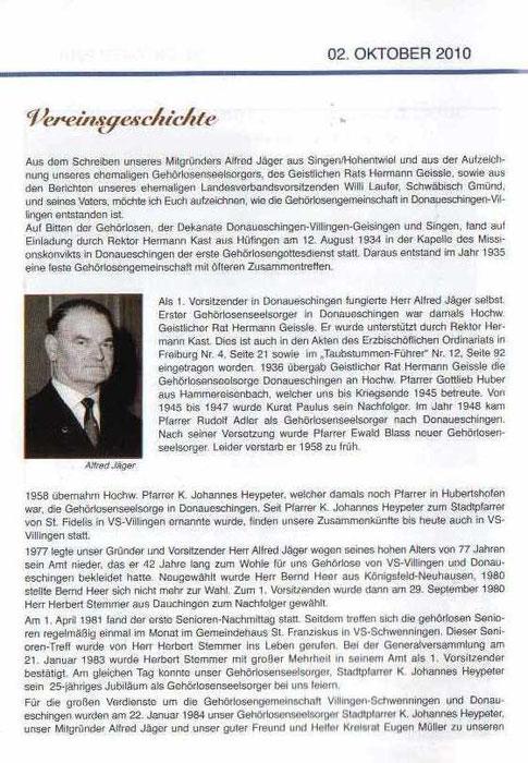 Jubiläumsfestschrift 2010