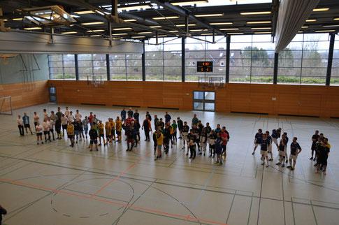 Eröffnung zum 10. Benefiz-Hallenfußballturnier zu Gunsten lebererkrankter Kinder im UK-SH Kiel