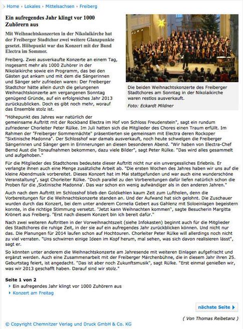 "10.12.2013, ""Freie Presse"""