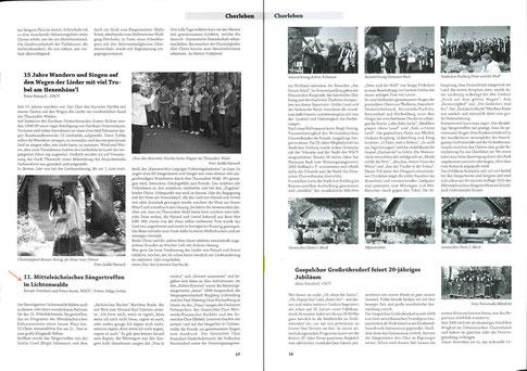 """""""Unisono"""" 3/2014 (Chorzeitung des Chorverbandes)"""