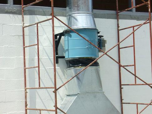 montaje tipico de extractor vanoaxial