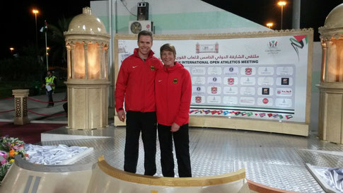 Mit Vereinskollege Markus Rehm, der ebenfalls sehr erfolgreich war.