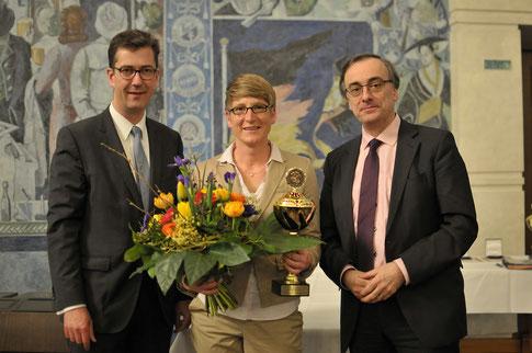 mit Oberbürgermeister C. Schuchardt und Sportreferent M. al Ghusain, Foto: Patrick Wötzel