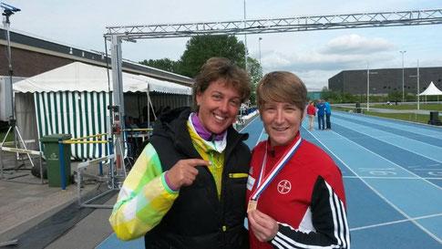 mit Trainerin Steffi Nerius
