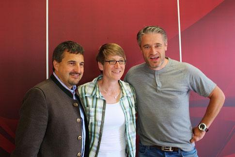 v.l.n.r. Georg Hackl, Franziska Liebhardt, Gerd Schönfelder