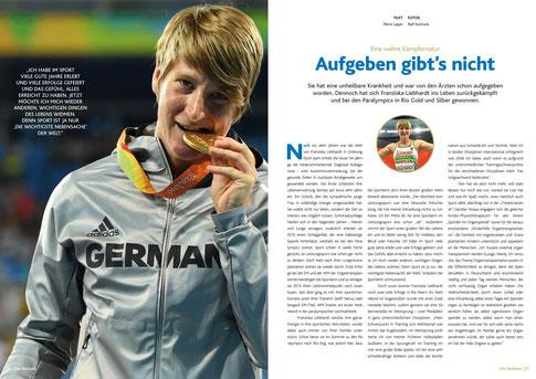 Quelle: Jahrbuch zum Felix 2016, ausgezeichneter Spitzensport in NRW