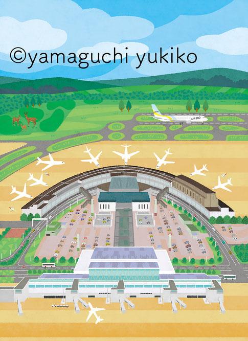 空港俯瞰イラスト