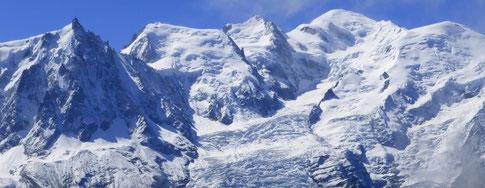 Superbe vue sur le Mont Blanc et les Aiguilles du Midi