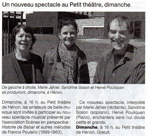 OUEST FRANCE 25 AVRIL 2014