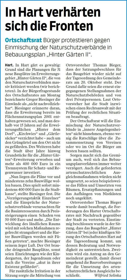 Hohenzollerische Zeitung 14.10.2020