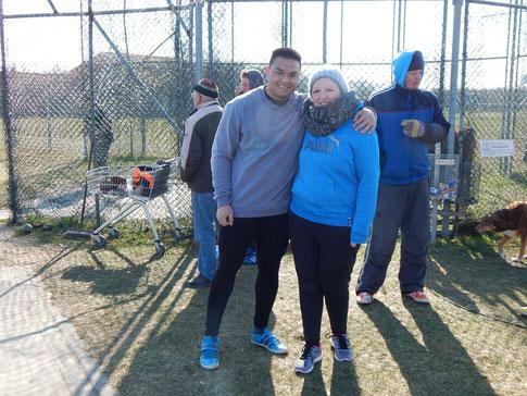 Vorne: Steffen Klein und Natalie Tag trotzen der Kälte.